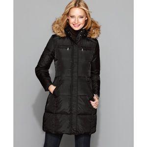 Michael Kors Knee Length faux fur coat
